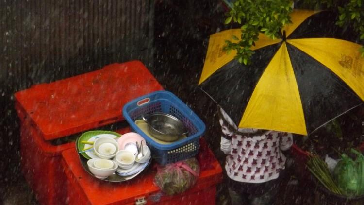 parapluie jaune Cropped